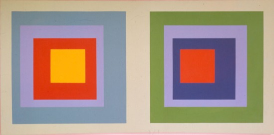 Copy of Painting No 11 Homage to Albers, 1972 stereo X acrylic 24in x 48in